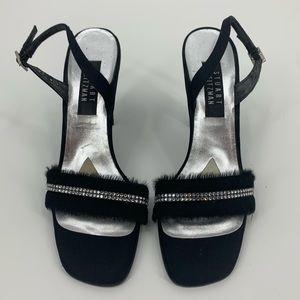 Stuart weitzman heels sling back rhinestones 9.5